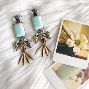 Mint Statement Earrings